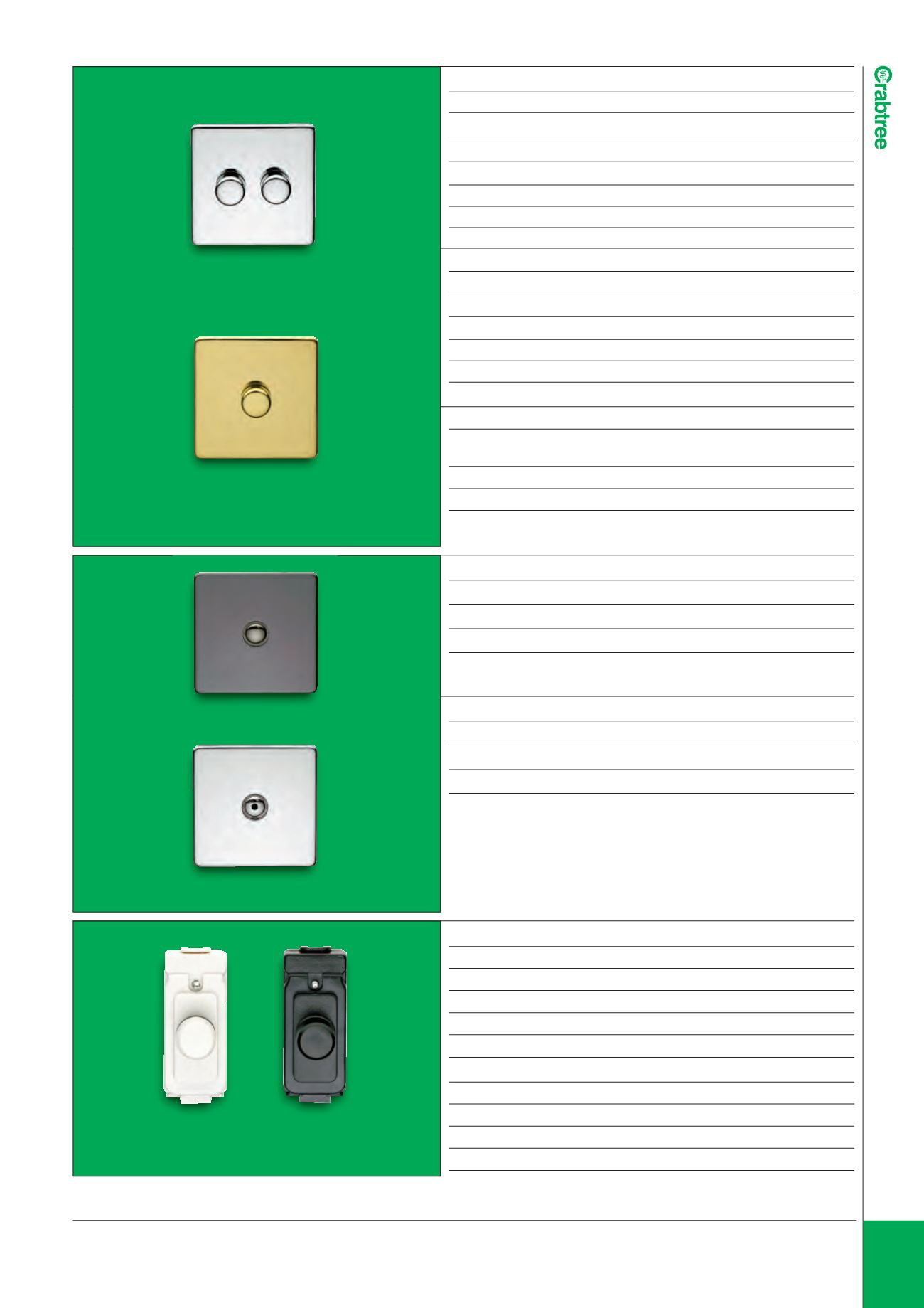Crabtree Electrical Wiring Accessories A Dimmer Switch Page Background