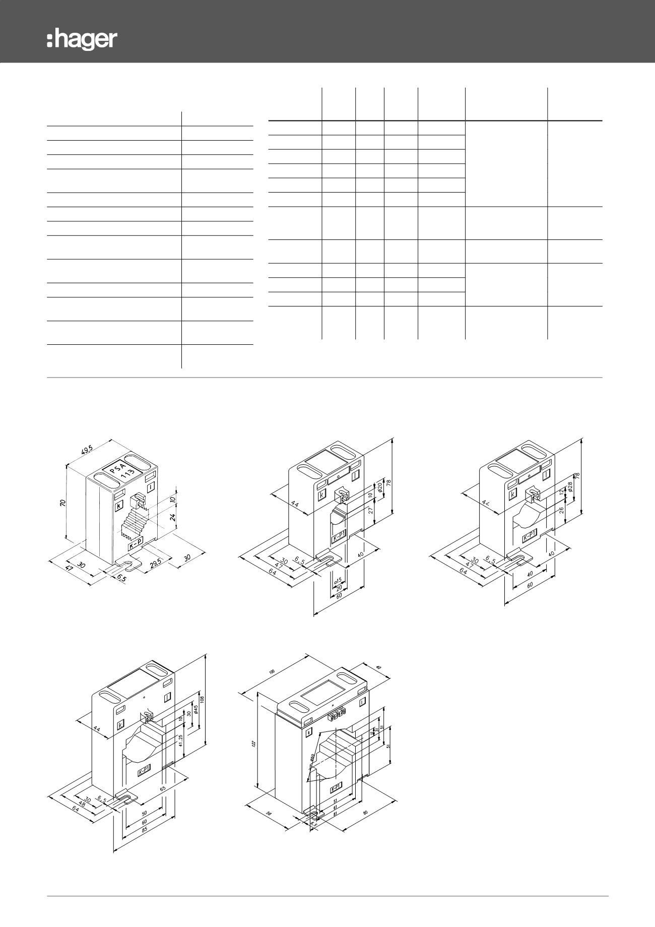 /30/A /amp/èrem/ètre analogique lecture directe 0/ Hager SM030/