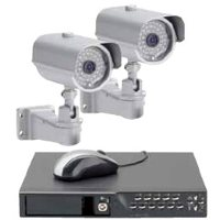 WIRED HD 2 CCD CAMERA 4CH DVR KIT