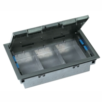 200mm x 100mm galvanised 2compartment trunking for 1 compartment floor box