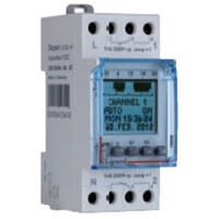Programmable time switch digital disp. for outdoor illuminations 2 outputs