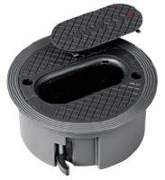 089307 Circular Floor Box Legrand 125mm Aluminium