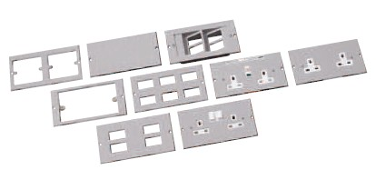 75mm wide 13A standard socket plates- Twin switched clean earth
