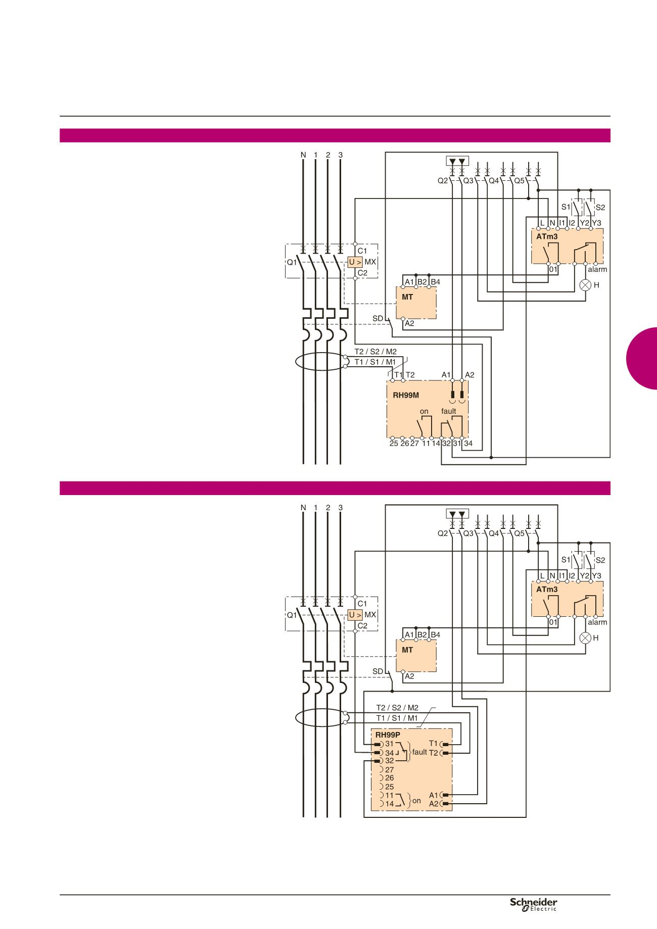 B 17 Wiring Diagram Detailed Schematics Rj45 Socket Guide Vigirex Residual Current Protection Relays Connector