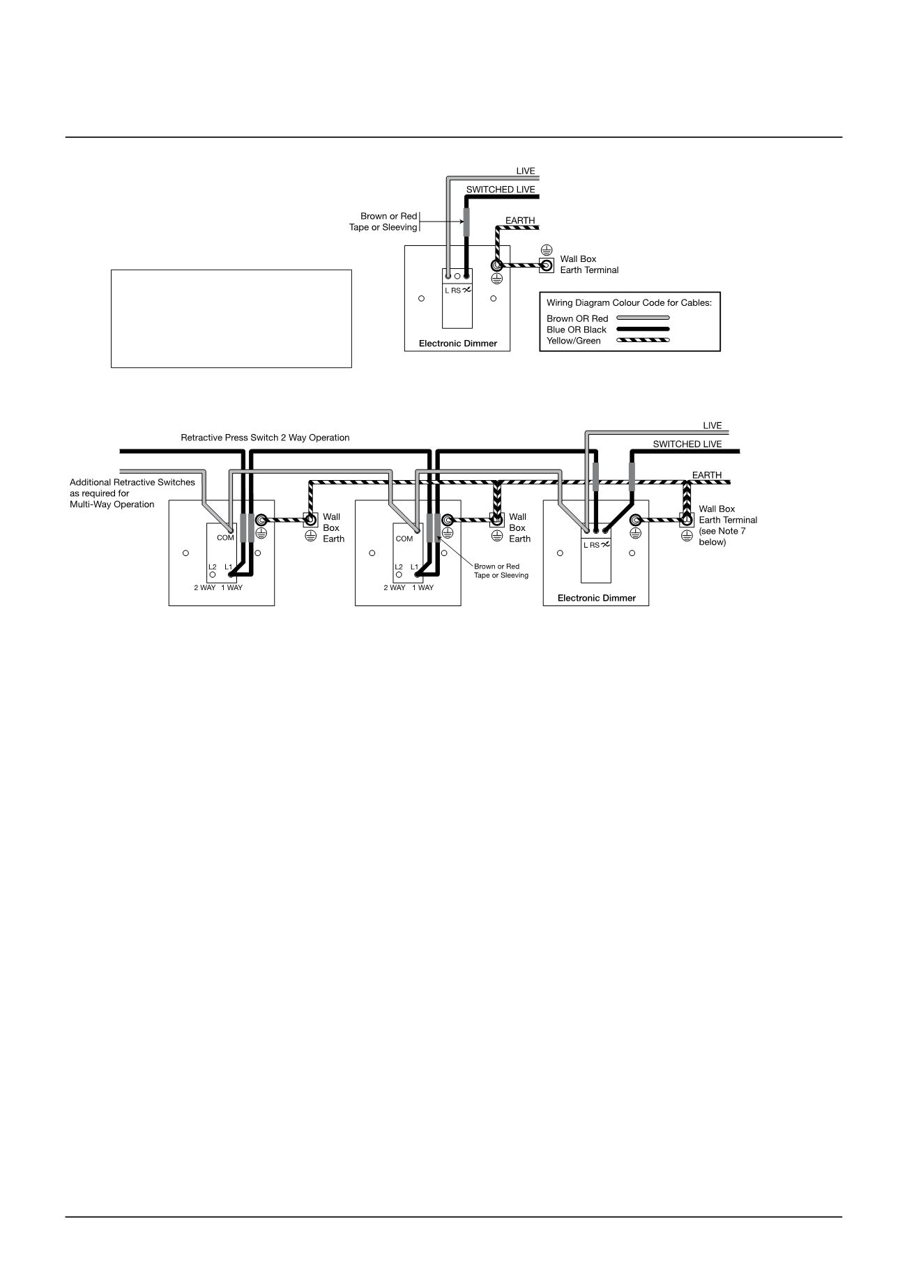wiring devices, lighting & air movement - lifespace product catalogue retractive switch wiring diagram retractive switch dimming electrika