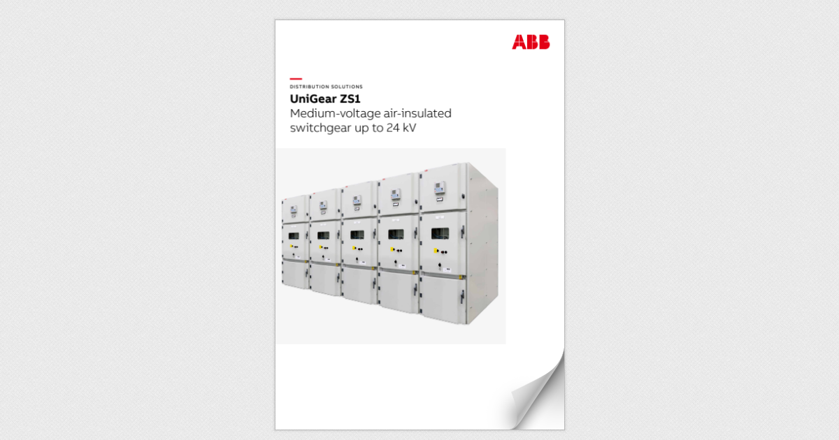 UniGear ZS1 - Medium-voltage air-insulated switchgear up to 24 kV