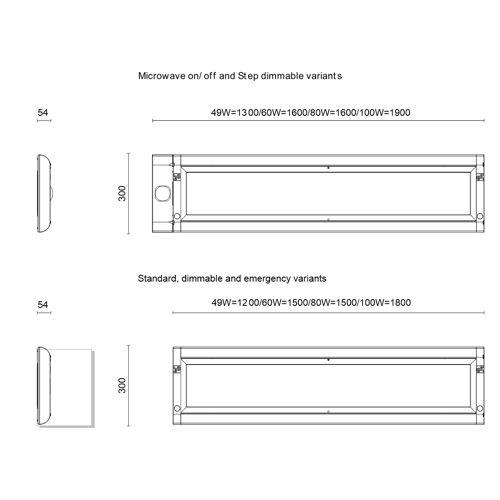 Jcc Lighting Jc72301sd Skytile Surface Linear Ip20 1200mm Led