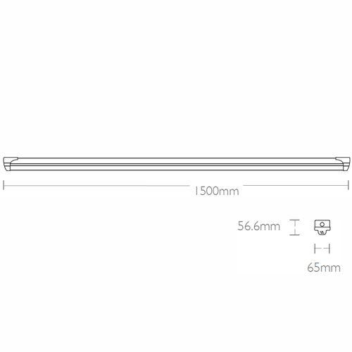 Saturn LED   DYNAMO-1500-3500   Dynamo 35W 4000K IP20 1500mm LED Batten