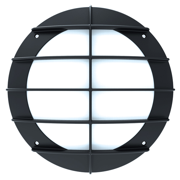 BH800 Bulkhead Grill 14W 3000K Black Emergency