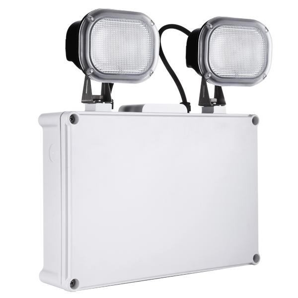 Draycote Emergency Twin Spot  Self-Test IP65 6w White 6000K