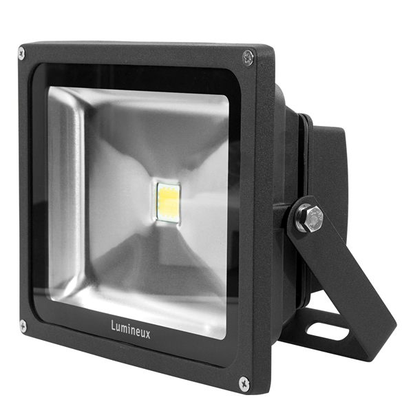 FL125 Floodlight 30W Black  Photocell