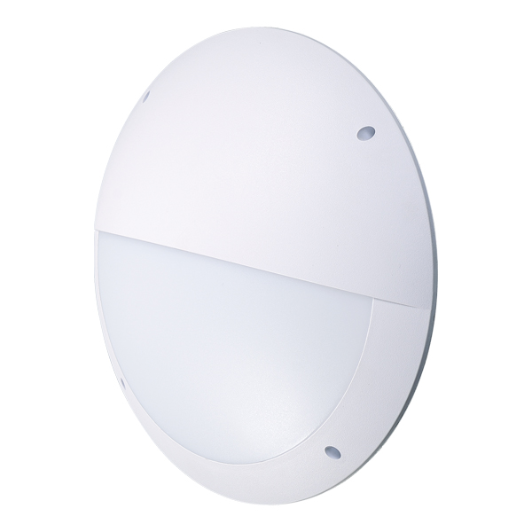 BH400 Slimline Bulkhead Eyelid 12W 3000K White DD