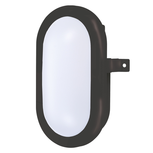 BH700 Oval Bulkhead 5W 6000K Black