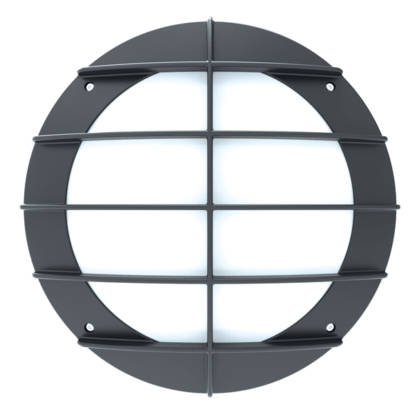 BH800 Bulkhead Grill 14W 3000K Grey Emergency