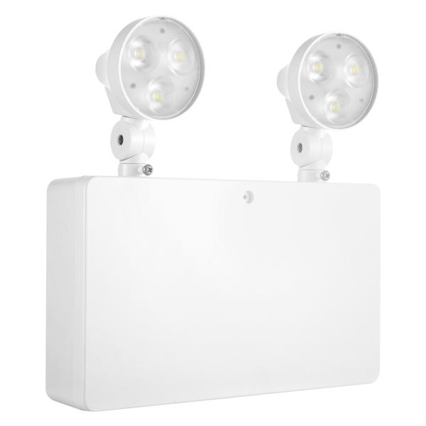 Draycote Emergency Twin Spot  IP20 6w White 6000K
