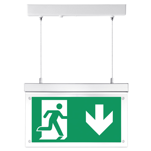 Fontburn Emergency Hanging Exit Sign  Self-Test 3W 6000K White