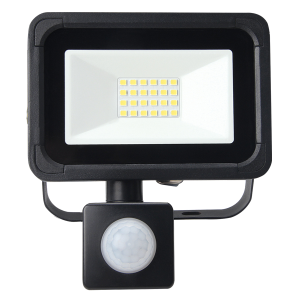 Lifford Floodlight AC 10W 4000K Black PIR