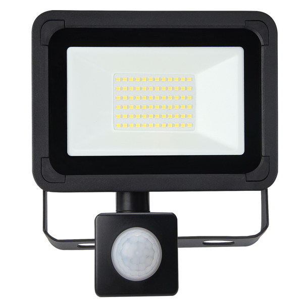 Lifford Floodlight AC 20W 4000K Black PIR