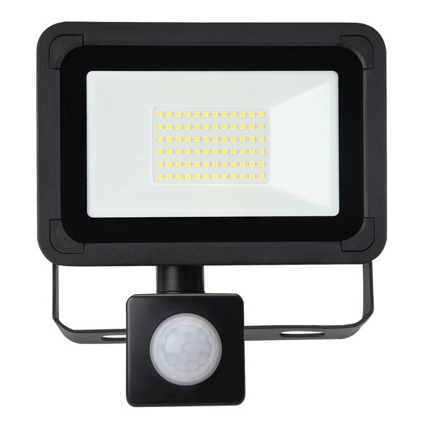 Lifford Floodlight AC 30W 4000K Black PIR